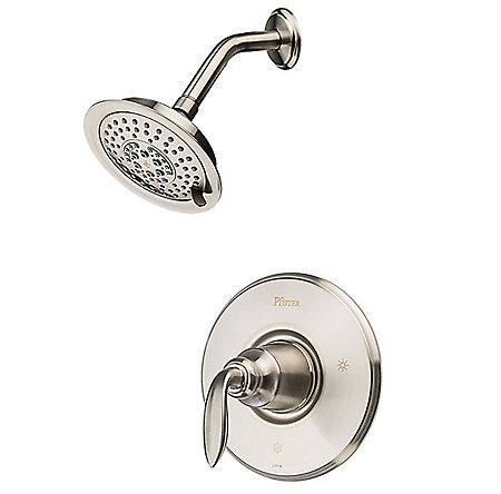 Brushed Nickel Avalon 1-Handle Shower, Trim Only - LG89-7CBK - 1