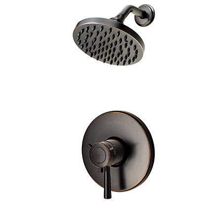 Tuscan Bronze Thermostatic Shower System - LG89-7TUY - 1