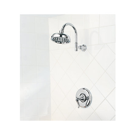 Polished Chrome Ashfield 1-Handle Shower, Trim Only - LG89-7YPC - 2