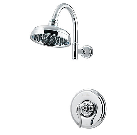 Polished Chrome Ashfield 1-Handle Shower, Trim Only - LG89-7YPC - 1