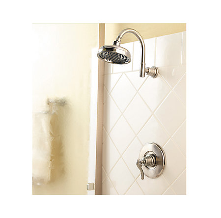 Brushed Nickel Ashfield 1-Handle Shower, Trim Only - G89-7YPK - 2