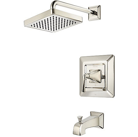 Polished Nickel Park Avenue 1-Handle Tub & Shower, Trim Only - LG89-8FED - 1