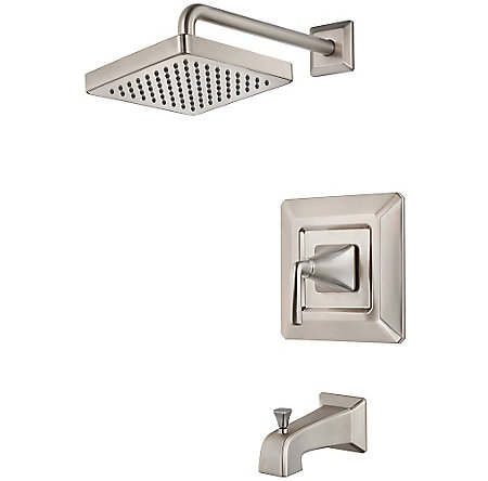 Brushed Nickel Park Avenue 1-Handle Tub & Shower, Trim Only - LG89-8FEK - 1