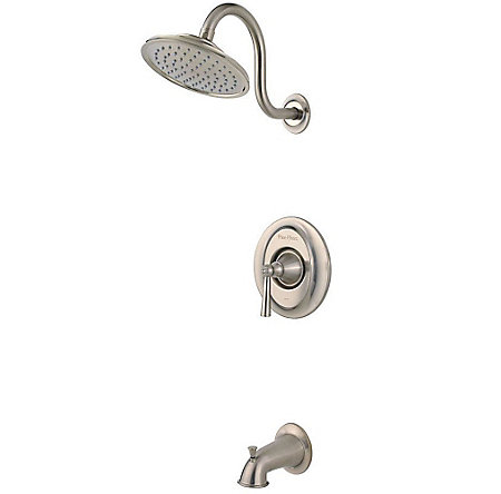 Brushed Nickel Saxton 1-Handle Tub & Shower, Trim Only - LG89-8GLK - 1