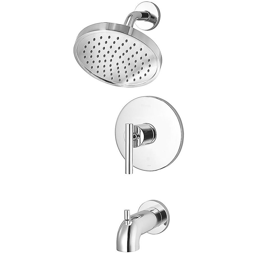 Polished Chrome Contempra 1-Handle Tub & Shower, Trim Only - LG89 ...