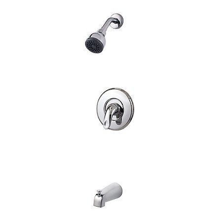 Polished Chrome Serrano 1-Handle Tub & Shower, Trim Only - LG89-8SRC - 1
