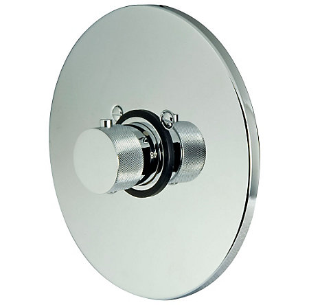 "Polished Chrome 3/4"" Thermostatic Trim - R89-9THC - 1"