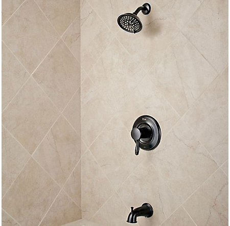 Tuscan Bronze Universal 1-Handle Tub & Shower, Trim Only  - R90-WS-TD2Y - 2