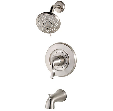 Brushed Nickel Universal 1-Handle Tub & Shower, Trim Only  - R90-WS-TN2K - 1