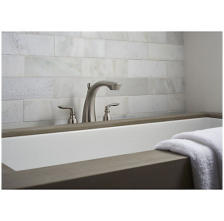 Brushed Nickel Avalon 3-Hole Roman Tub, Trim Only - RT6-5CB1K - 2