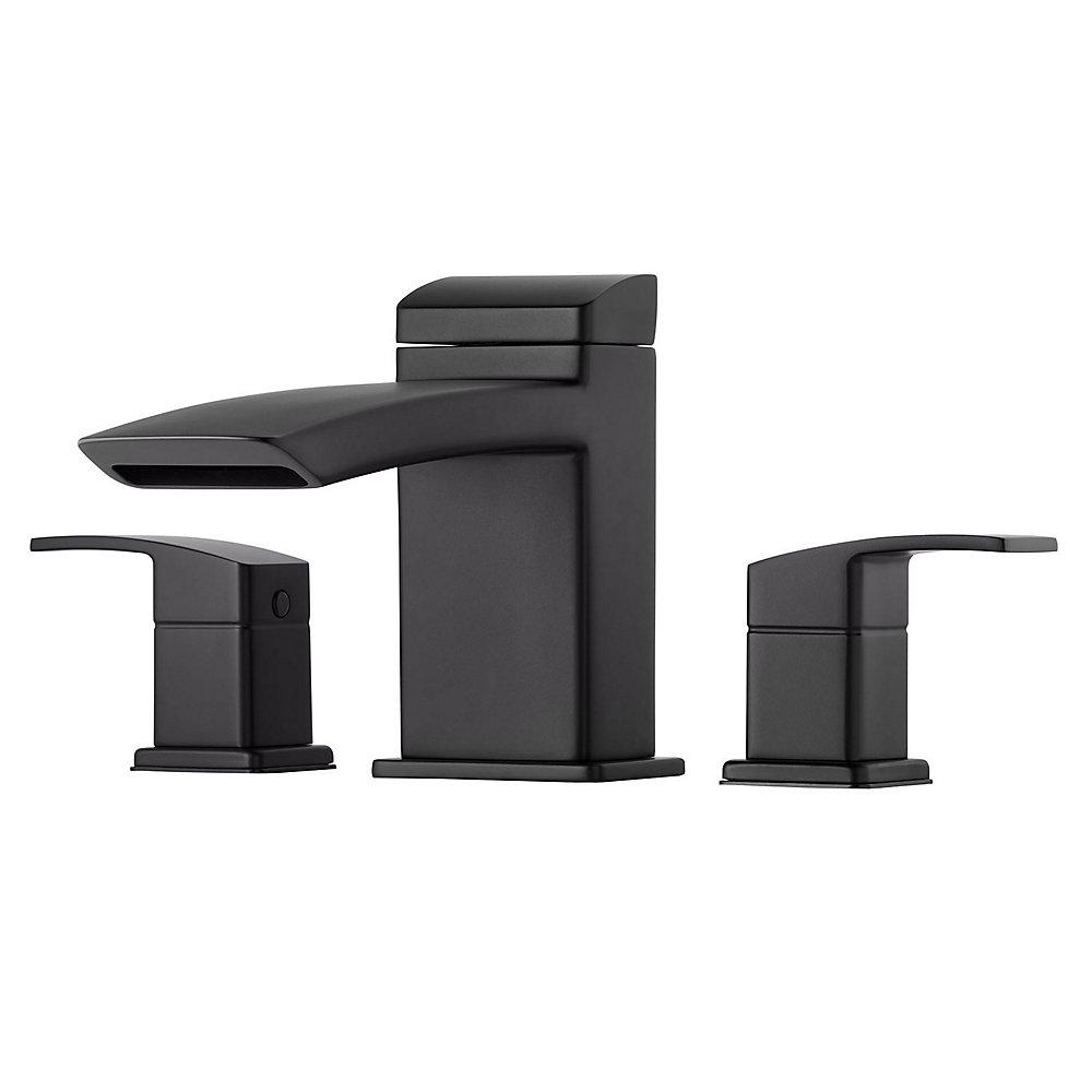 Black Kenzo 3-Hole Roman Tub, Trim Only - RT6-5D1B | Pfister Faucets