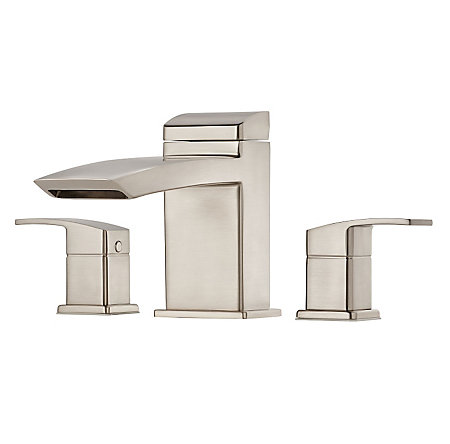 Brushed Nickel Kenzo 3-Hole Roman Tub, Trim Only - RT6-5D1K - 1