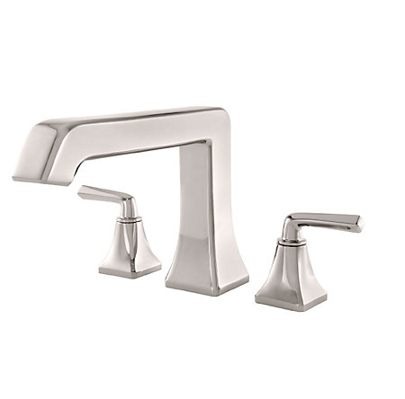 Polished Nickel Park Avenue 3-Hole Roman Tub, Trim Only - RT6-5FED - 1