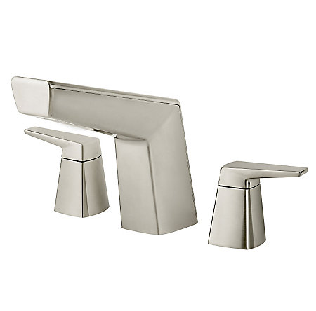 Brushed Nickel Arkitek 3-Hole Roman Tub, Trim Only - RT6-5LPMK - 1