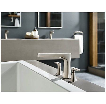 Brushed Nickel Kelen 3-Hole Roman Tub, Trim Only - RT6-5MFK - 2