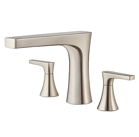 Brushed Nickel Kelen 3-Hole Roman Tub, Trim Only - RT6-5MFK - 1