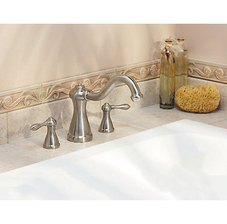 Brushed Nickel Marielle 3-Hole Roman Tub, Valve and Handle Not Included - RT6-5MXK - 3