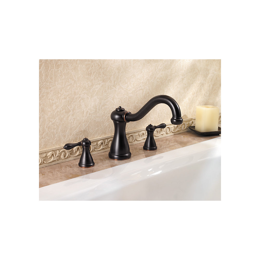 Tuscan Bronze Marielle 3-Hole Roman Tub, Valve And Handle Not ...