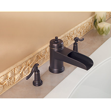 Tuscan Bronze Ashfield 3-Hole Roman Tub, Trim Only - RT6-5YPY ...
