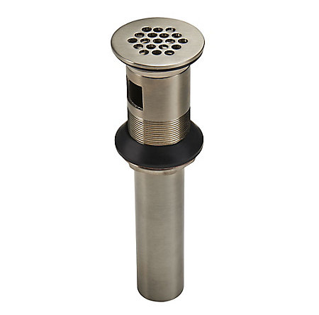Brushed Nickel Grid Strainer With Overflow - S47-9GSK - 1