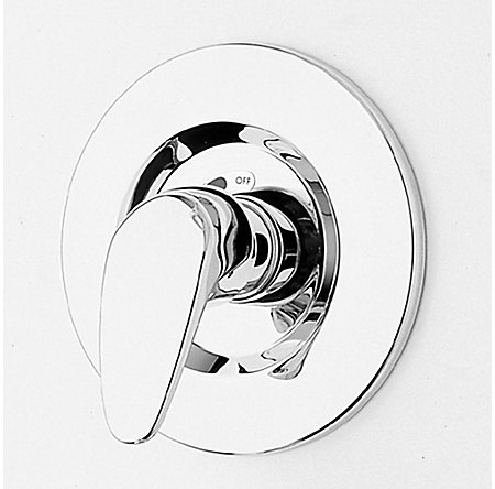 Polished Chrome Price Pfister Shower Handle - SGL-L0VC - 1