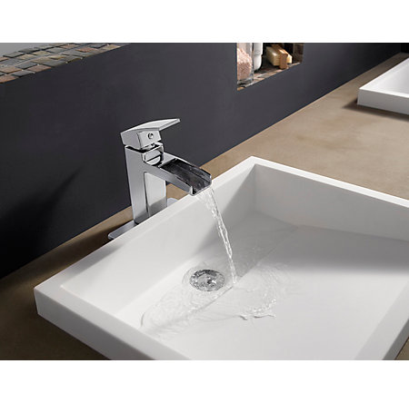 Polished Chrome Kenzo Single Control, Centerset Bath Faucet - T42-DF0C - 3