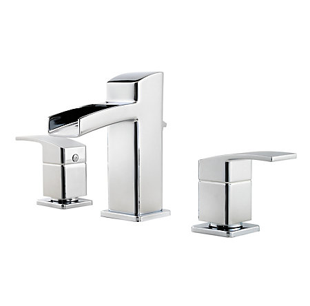 Polished Chrome Kenzo Widespread Bath Faucet - T49-DF0C - 1