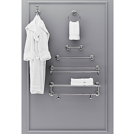 "Polished Chrome Tisbury 18"" Towel Rack - BTB-TB1C - 3"