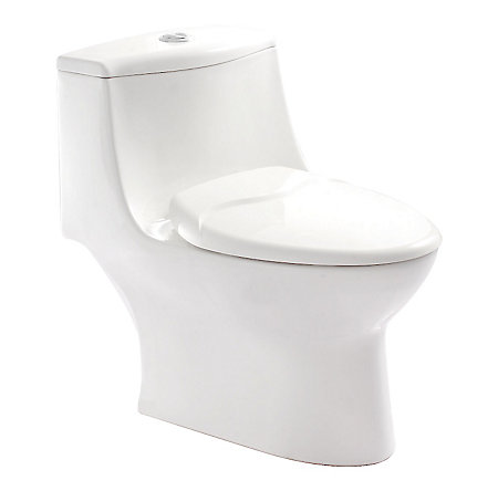 White Kamato One Piece, Dual Flush Toilet - VTP-E70W  - 1