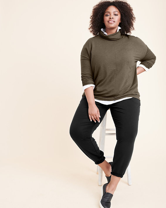 Cowl-Neck Knit Pullover