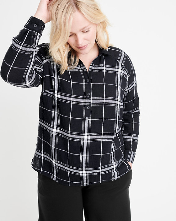 Gauze Pullover Shirt