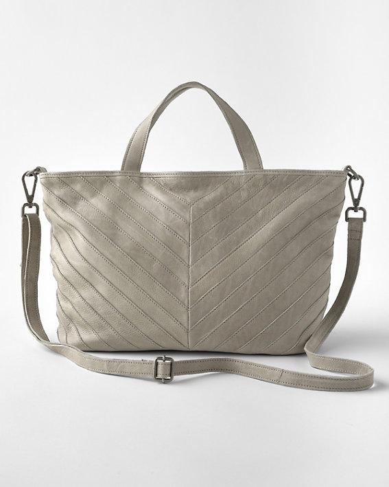An elegant Latico Morgan leather converible purse with a medium length strap.