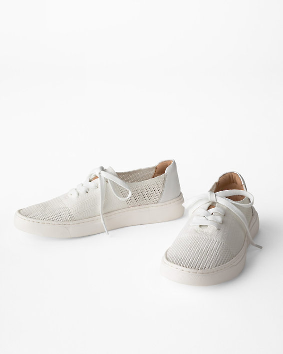 Comfortiva Trista white sneakers in wide width sizes.