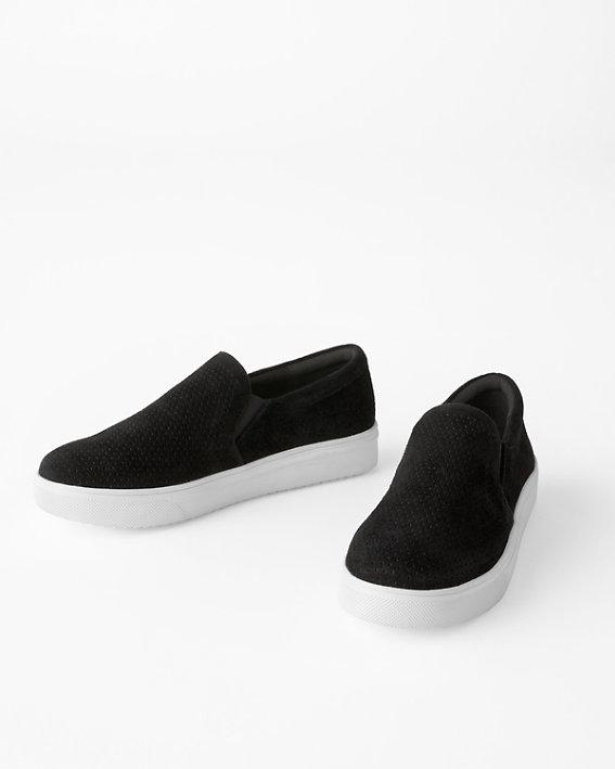 Blondo Gallert slip-on sneakers in wide width sizes.