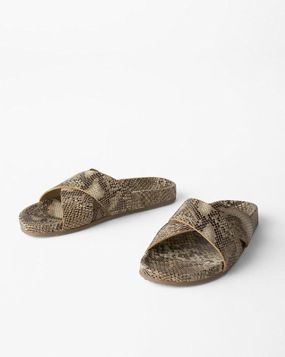 Seychelles slide sandals in wide width sizes.