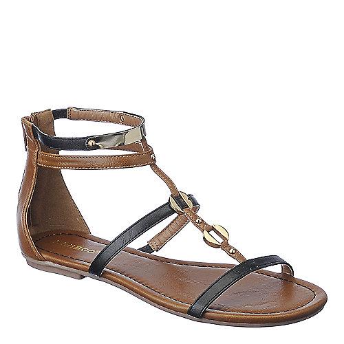 36858b6b2 Bamboo Black Women s Pable-01 Flat Sandal