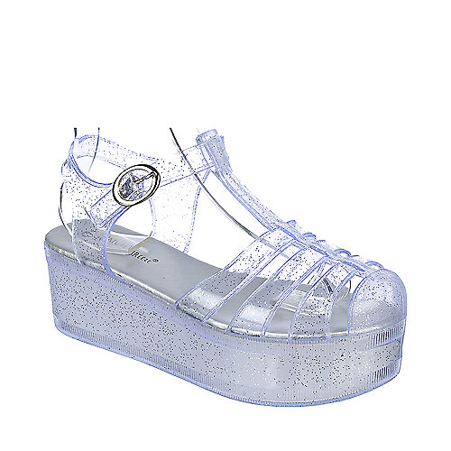 Clear Jelly Shoes Size