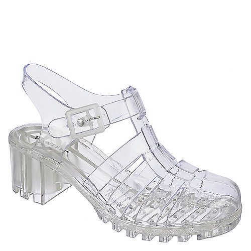 Wanted Gumball Womens Clear Jelly Caged Strappy Heel