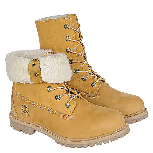 timberland auth tedy fleece womens tan fur lined boots