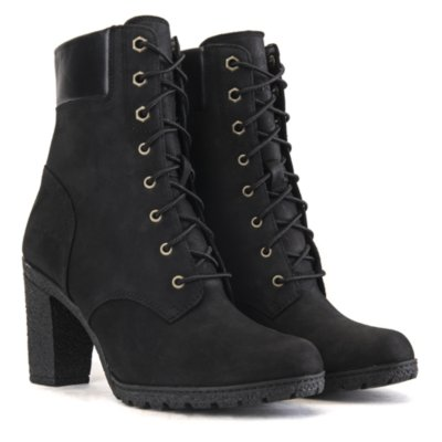 Timberland Glancy Women Black Low Heel Ankle Boots