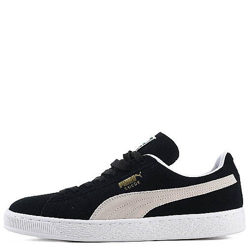 puma mens suede classic black suede casual sneaker. Black Bedroom Furniture Sets. Home Design Ideas