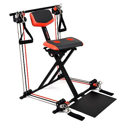 Nano Gym Supreme Portable Home Gym w/ Footplate, Built-in Swivel Gel Seat &  DVD on sale at evine com