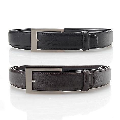 adc55eab06d Click It Belt Set of 2 Leather Adjustable Belts - EVINE