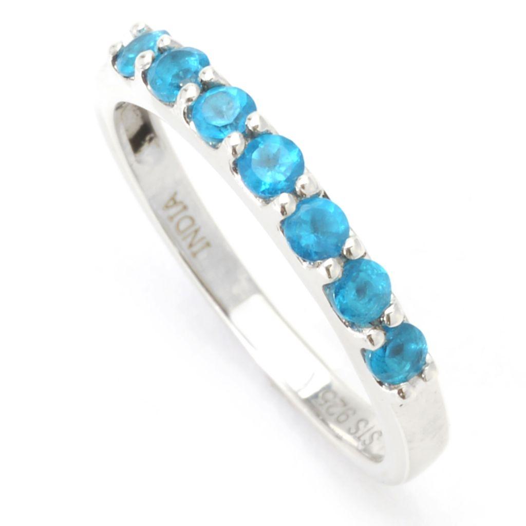 dcb65f643135 Gem Treasures®, Round 7-Gemstone, Stack Band Ring