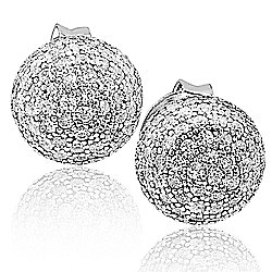 Suzy Levian New York Sterling Silver 2.18 DEW Simulated Diamond Stud Earrings
