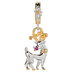 "Gems en Vogue Ruby ""Rudolph the Red-Nosed Reindeer"" Drop Charm"