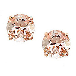 Fierra™ 14K Rose Gold 1.58ctw Morganite Stud Earrings