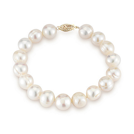 153-292- Kwan Collections 14K Gold 11-12mm Near Round Freshwater Cultured  Pearl