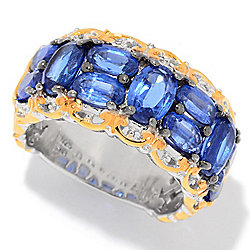 Gems en Vogue 3.72ctw Kyanite 11-Stone Band Ring