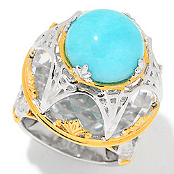 rings ring silver amazonite handmade sterling overstock cat seafoam gemstone jewelry watches for less